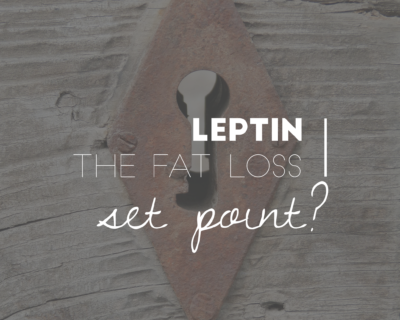 leptin - fat loss set point?